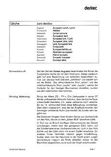 Beispielseite Allgemeine Informationen zum Fachbuch Baumdaten 2, Nadelbäume