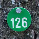 Markierungsplakette für Bäume, rund